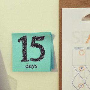 Here's Hailey and Zach's countdown, positioned beside their calendar.