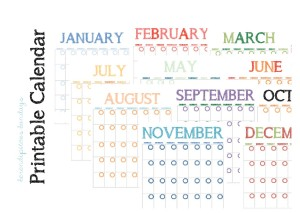Printable Calendar-1